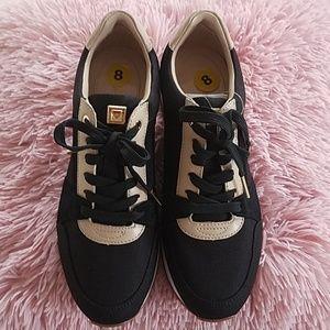 Michael Kors Women Sneakers, black and tan. New